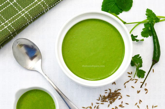 coriander mint yogurt chutney