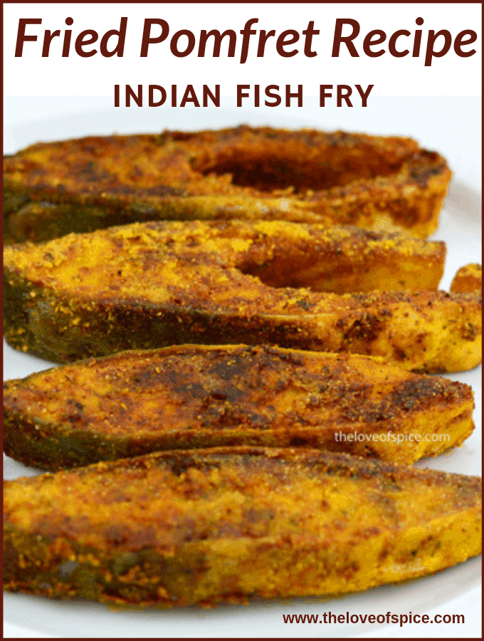 indian style fried pomfret steaks