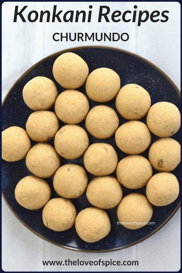 plate full of churmundo ladoo