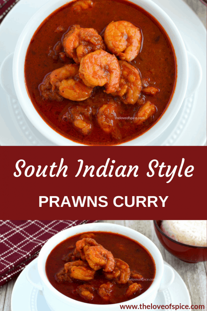 bowl of south indian prawns curry