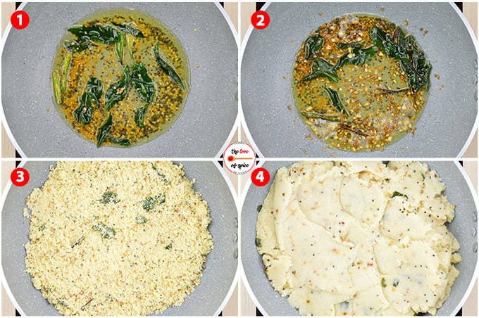 step by step photos of making upma