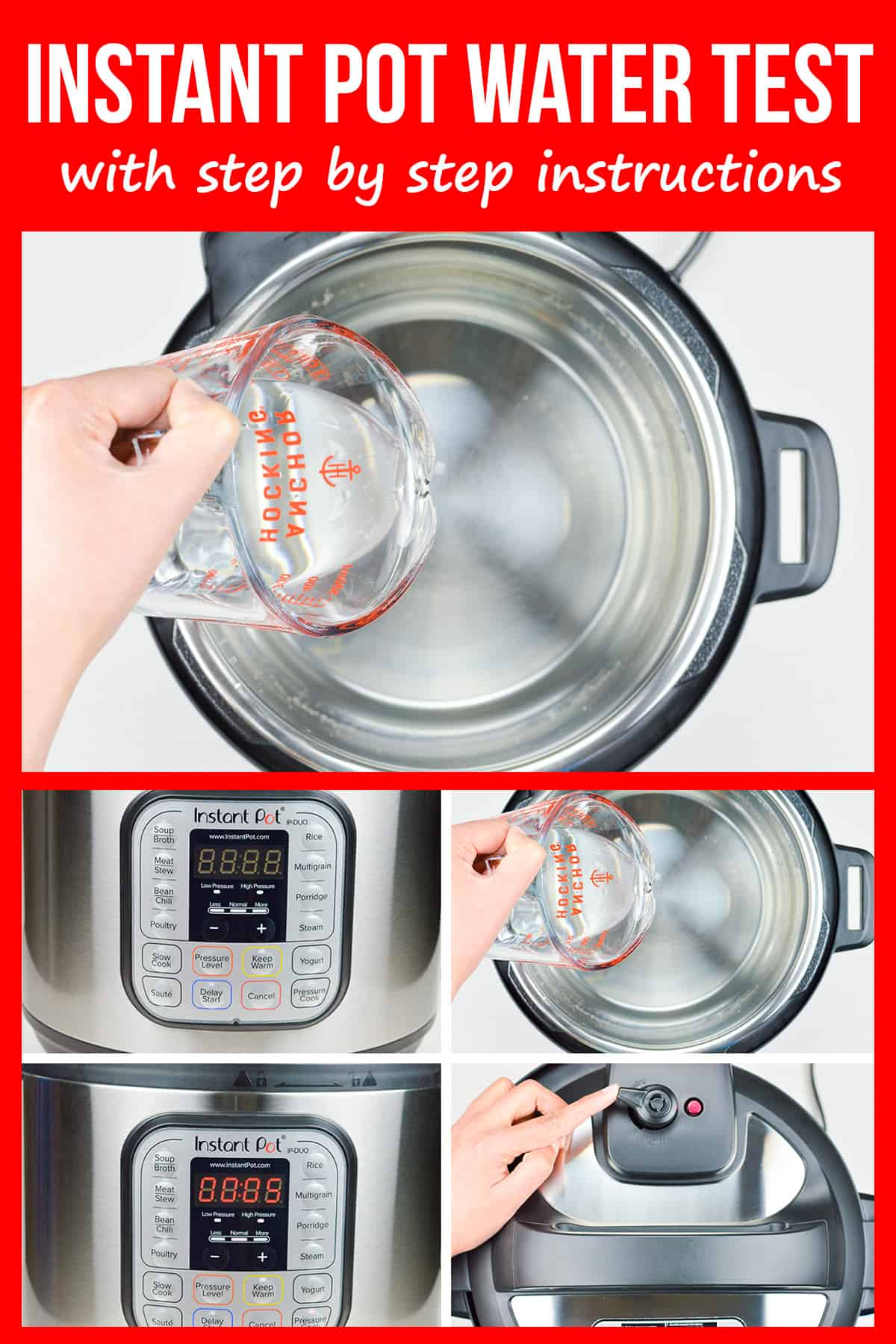 step by step photos of instant pot duo water test