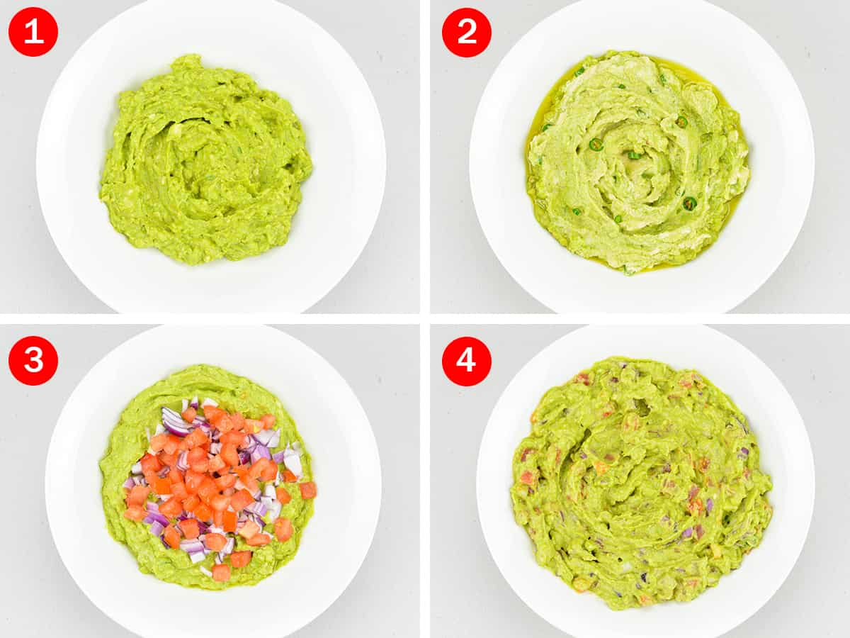 step by step photos of making indian style guacamole dip