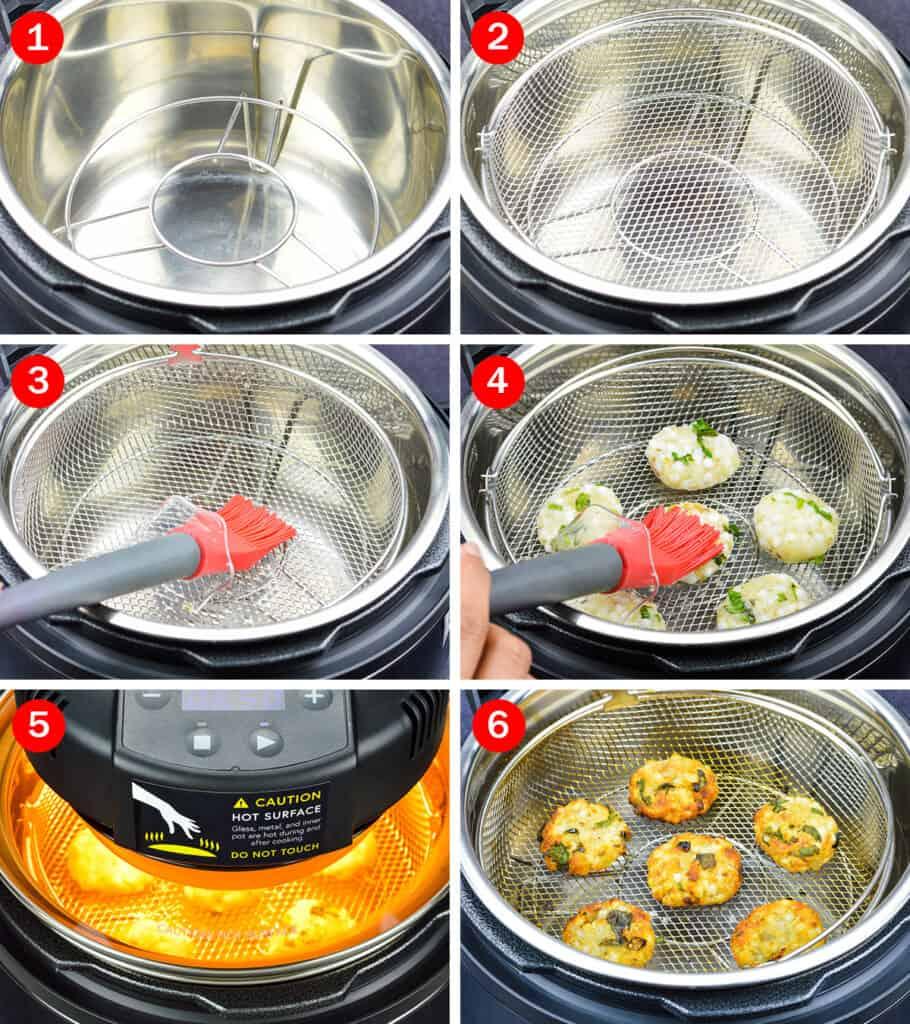 step by step photos of making sabudana vada in mealthy crisplid