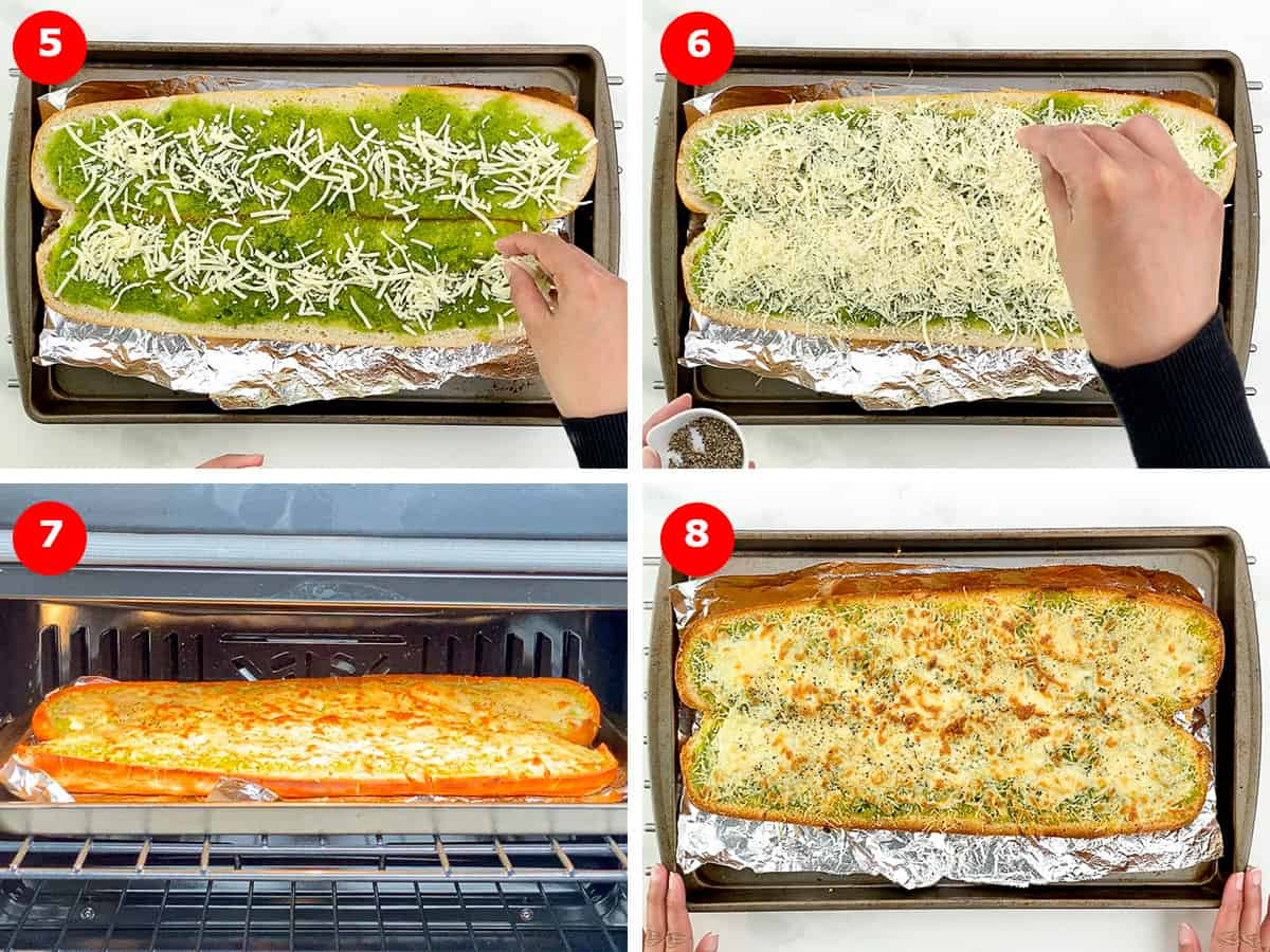 step by step photos of making garlic bread in oven