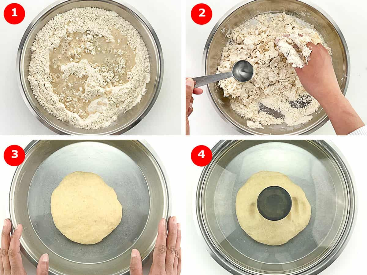 step by step photos of making puri dough