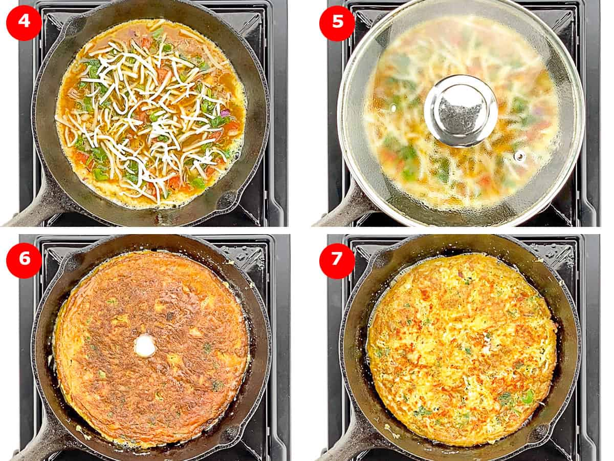 step by step photos of making indian masala omelette
