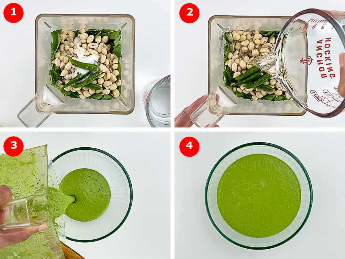 step by step photos of making sandwich chutney