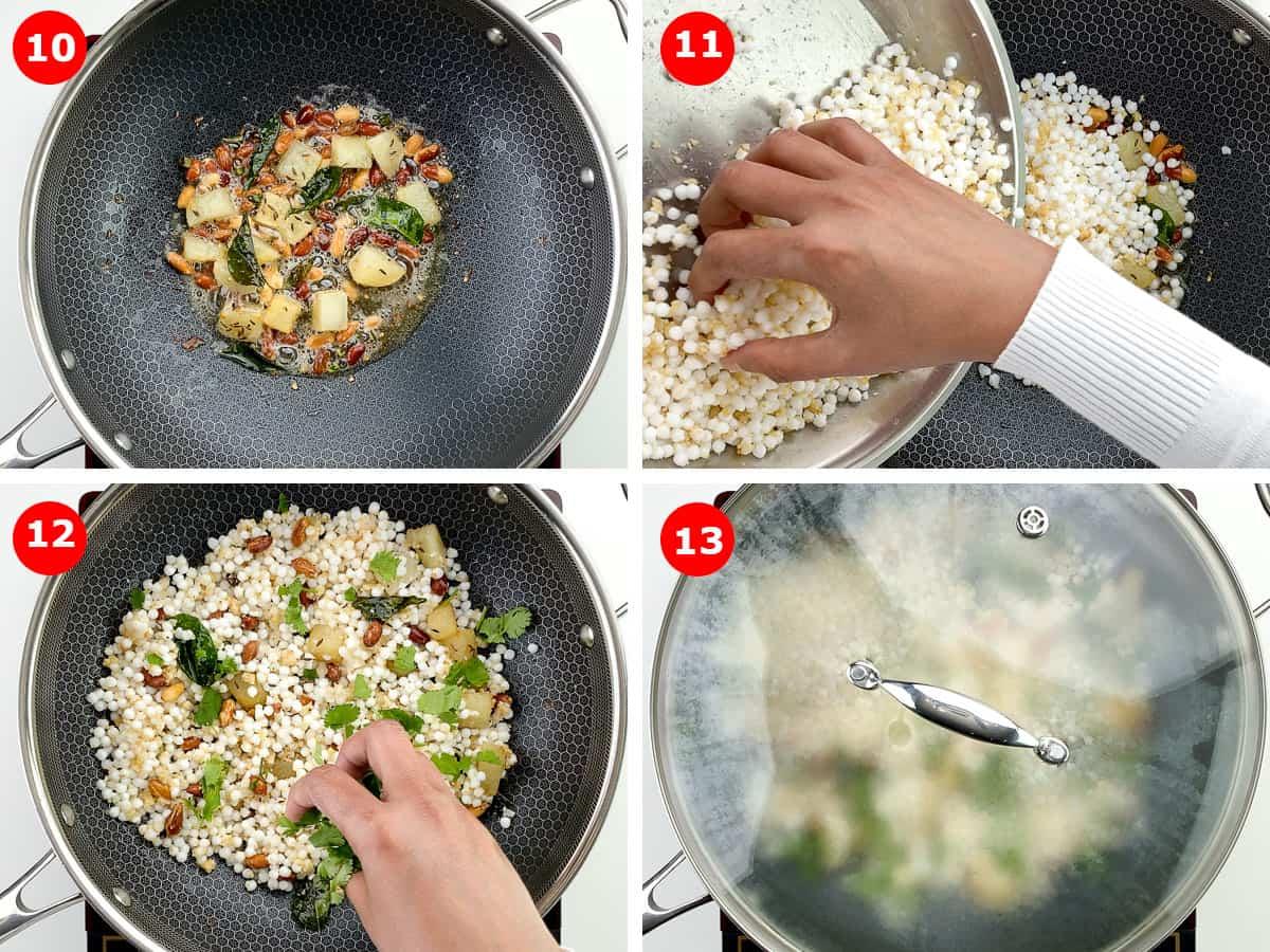 step by step photos of making sabudana khichdi